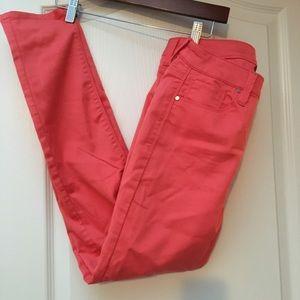 Design Lab Salmon Skinny Leg Pants